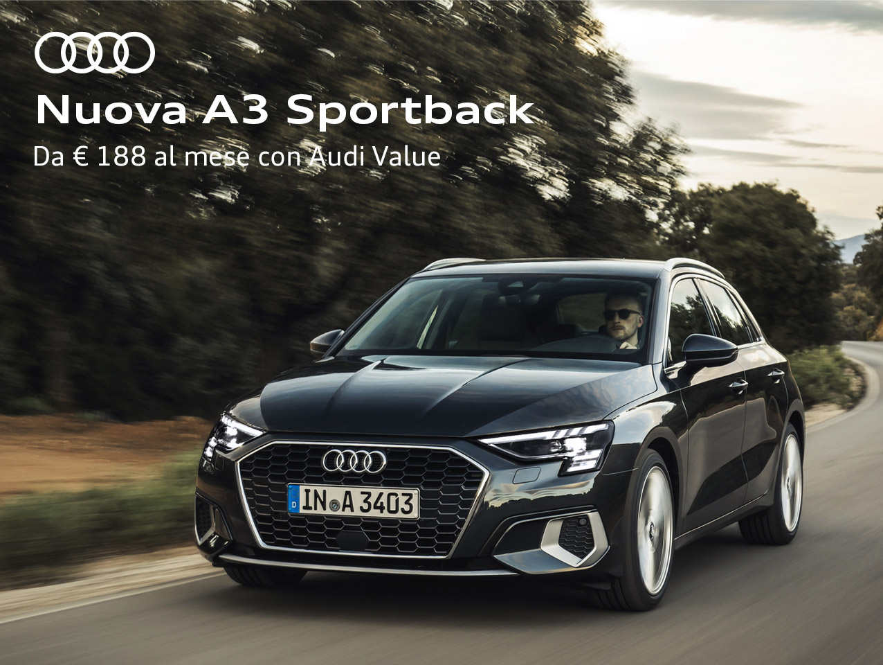 NUOVA AUDI A3 SPORTBACK BUSINESS ADVANCED 35 TFSI